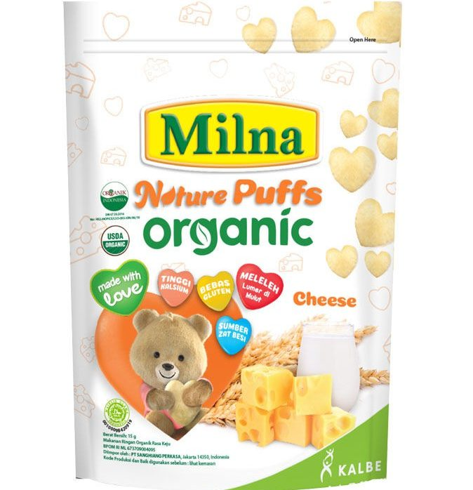Biskuitkemasan: MILNA Biskuit Bayi Organic Keju PoinMART